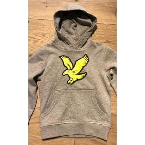 Lyle & Scott hoodie trui met groot logo in de kleur grijs