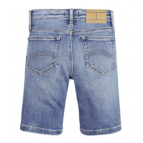 Tommy Hilfiger kids girls korte jeans broek steve slim tapered in de kleur jeansblauw