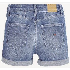 Tommy Hilfiger korte broek in de kleur jeansblauw