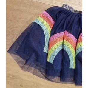 Smile today tule rok met pailletjes in de kleur donkerblauw