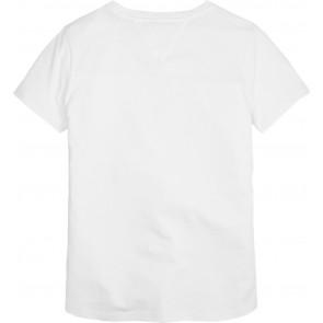 Tommy Hilfiger kids girls lurex flag shirt in de kleur wit