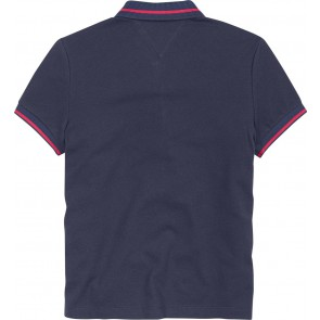 Tommy Hilfiger kids girls star badged pique polo shirt in de kleur donkerblauw