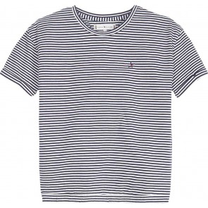 Tommy Hilfiger kids girls mini stripe tee shirt in de kleur blauw/wit