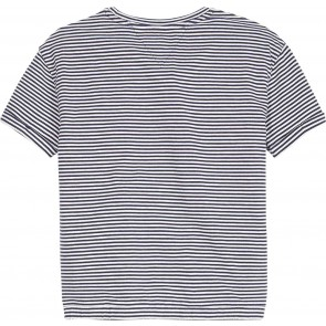 Tommy Hilfiger kids girls mini stripe tee shirt in de kleur blauw/wit