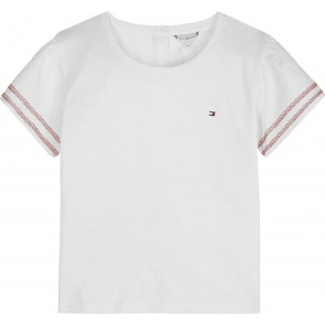 Tommy Hilfiger kids girls combi top shirt in de kleur wit