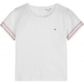 Tommy Hilfiger kids girls combi top shirt in de kleur wit