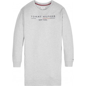 Tommy Hilfiger kids girls sweatjurk logo print dress in de kleur grijs