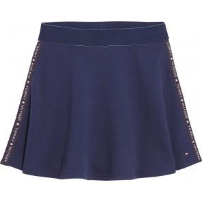 Tommy Hilfiger rok met logotape in de kleur donkerblauw