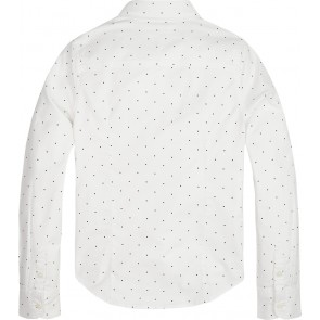 Tommy Hilfiger kids girls blouse essntial oxford mini stip in de kleur wit