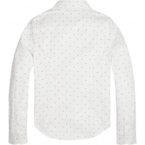 Tommy Hilfiger kids girls blouse essntial oxford mini stip in de kleur wit