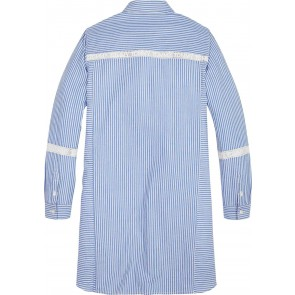 Tommy Hilfiger kids girls tommy tape shirt dress in de kleur lichtblauw