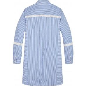 Tommy Hilfiger kids girls tommy tape shirt dress in de kleur lichtblauw