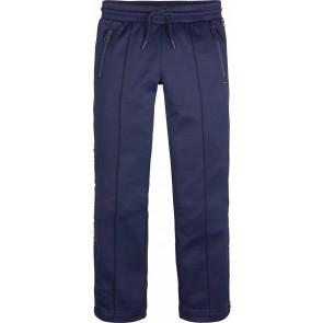Tommy Hilfiger kids girls lange broek met logo bies in de kleur donkerblauw