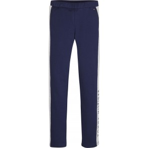 Tommy Hilfiger kids girls legging broek met logo bies in de kleur donkerblauw