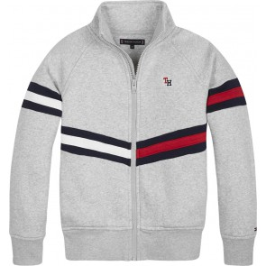 Tommy Hilfiger kids boys sweatvest essential flag in de kleur grijs