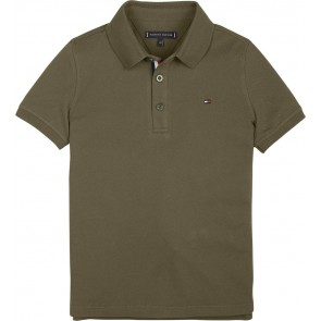 Tommy Hilfiger kids boys polo slim fit shirt in de kleur army groen