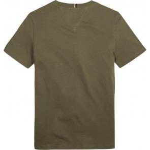 Tommy Hilfiger kids boys logo tee shirt in de kleur army green groen