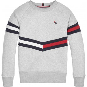 Tommy Hilfiger kids boys sweater trui essential flag in de kleur grijs