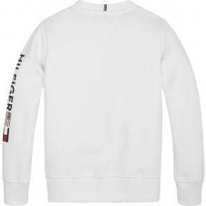 Tommy Hilfiger kids boys flags interlock sweater trui logo print in de kleur wit