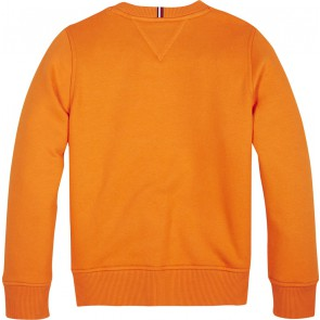 Tommy Hilfiger kids boys logo embroidered sweater trui in de kleur oranje