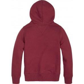 Tommy Hilfiger kids boys essential hoodie sweater trui in de kleur bordeaux rood
