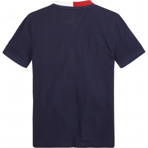 Tommy Hilfiger kids boys flag color polo shirt in de kleur donkerblauw