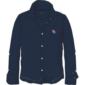 Tommy Hilfiger kids boys blouse soft pique shirt in de kleur donkerblauw