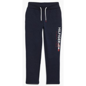 Tommy Hilfiger kids boys sweatpants met logoprint in de kleur donkerblauw