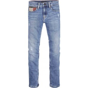 Tommy Hilfiger kids boys jeansbroek steve slim tapered in de kleur jeansblauw