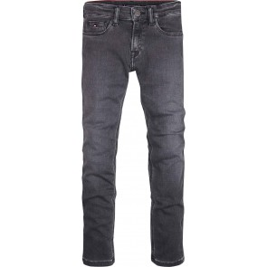 Tommy Hilfiger kids boys jeansbroek simon skinny stretch in de kleur antraciet grijs