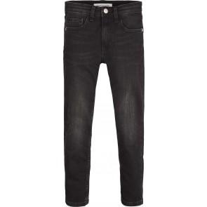 Calvin Klein kids boys tapered city jeans broek in de kleur antraciet grijs