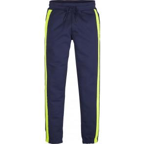 Calvin Klein kids boys neon tape sweatpants kleur donkerblauw