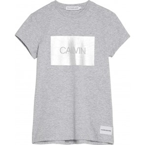Calvin Klein kids girls calvin box slim fit tee in de kleur grijs
