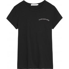 Calvin Klein kids girls chest logo slim fit shirt in de kleur zwart