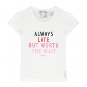 NIK en NIK always late t-shirt in de kleur off white