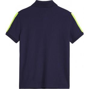 Calvin Klein Jeans poloshirt met neongele logoband in de kleur donkerblauw
