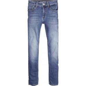 Calvin Klein Jeans boys stretch slim fit denim broek in de kleur jeansblauw