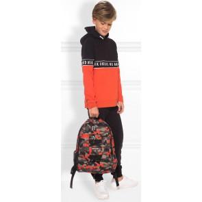 NIK en NIK Marvus hoodie trui met logoband in de kleur sport oranje