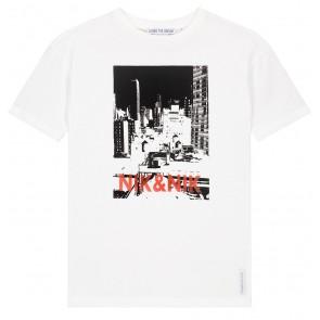 NIK en NIK Manhattan t-shirt met fotoprint in de kleur off white