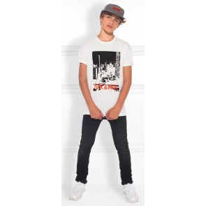NIK en NIK Manhattan t-shirt met fotoprint in de kleur off white
