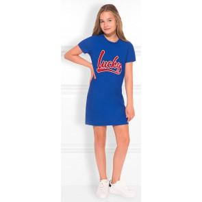 NIK en NIK Lucky tee dress t-shirt jurk in de kleur kobaltblauw