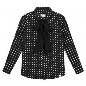 NIK en NIK Odet Star blouse met witte sterrenprint in de kleur zwart