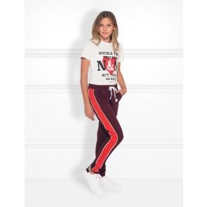 NIK en NIK Double trouble t-shirt met print in de kleur wit