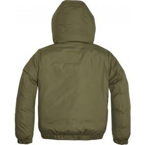 Tommy Hilfiger boys jas met capuchon in de kleur groen