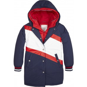 Tommy Hilfiger girls 2-in-1 jas in de kleur donkerblauw