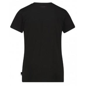 Ballin Amsterdam t-shirt met omgekeerd logo blok in de kleur zwart