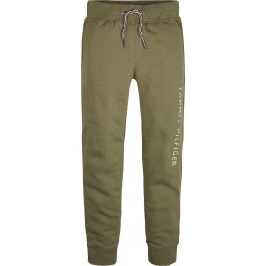 Tommy Hilfiger boys essential sweatpants met logo in de kleur groen