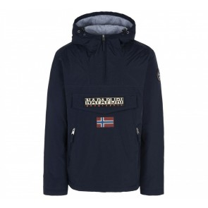 Napapijri kids rainforest anorak winterjas in de kleur donkerblauw