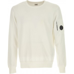CP Company undersixteen crew neck basic fleece sweater in de kleur off white