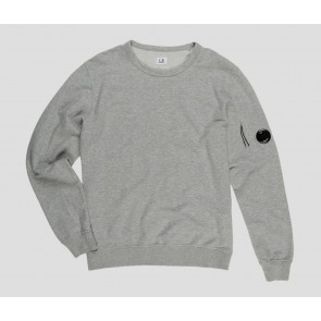 Cp Company undersixteen sweater trui crew neck basic fleece in de kleur grijs